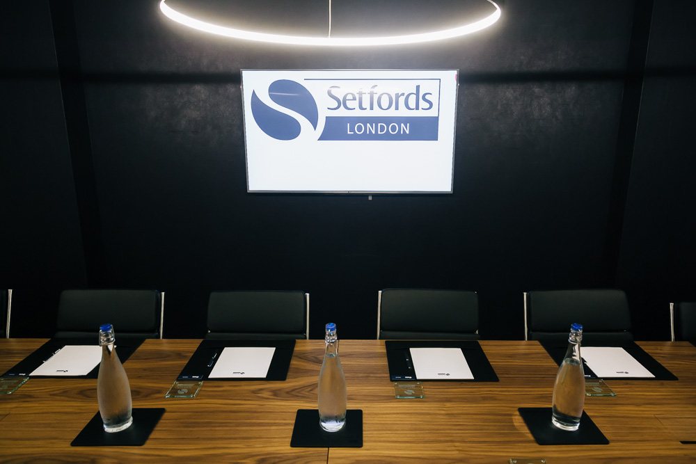 Setfords London conference room