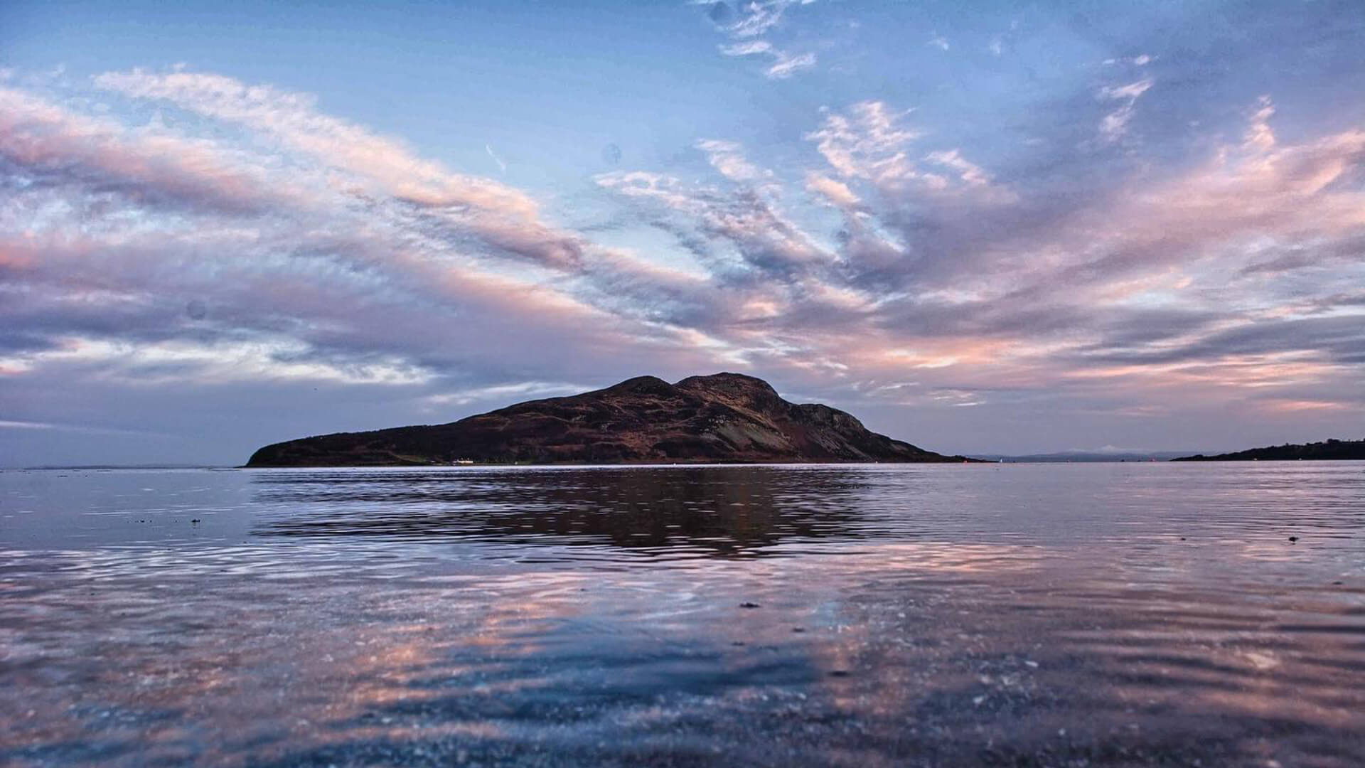 Holy Isle across from our house, in Lamlash Bay