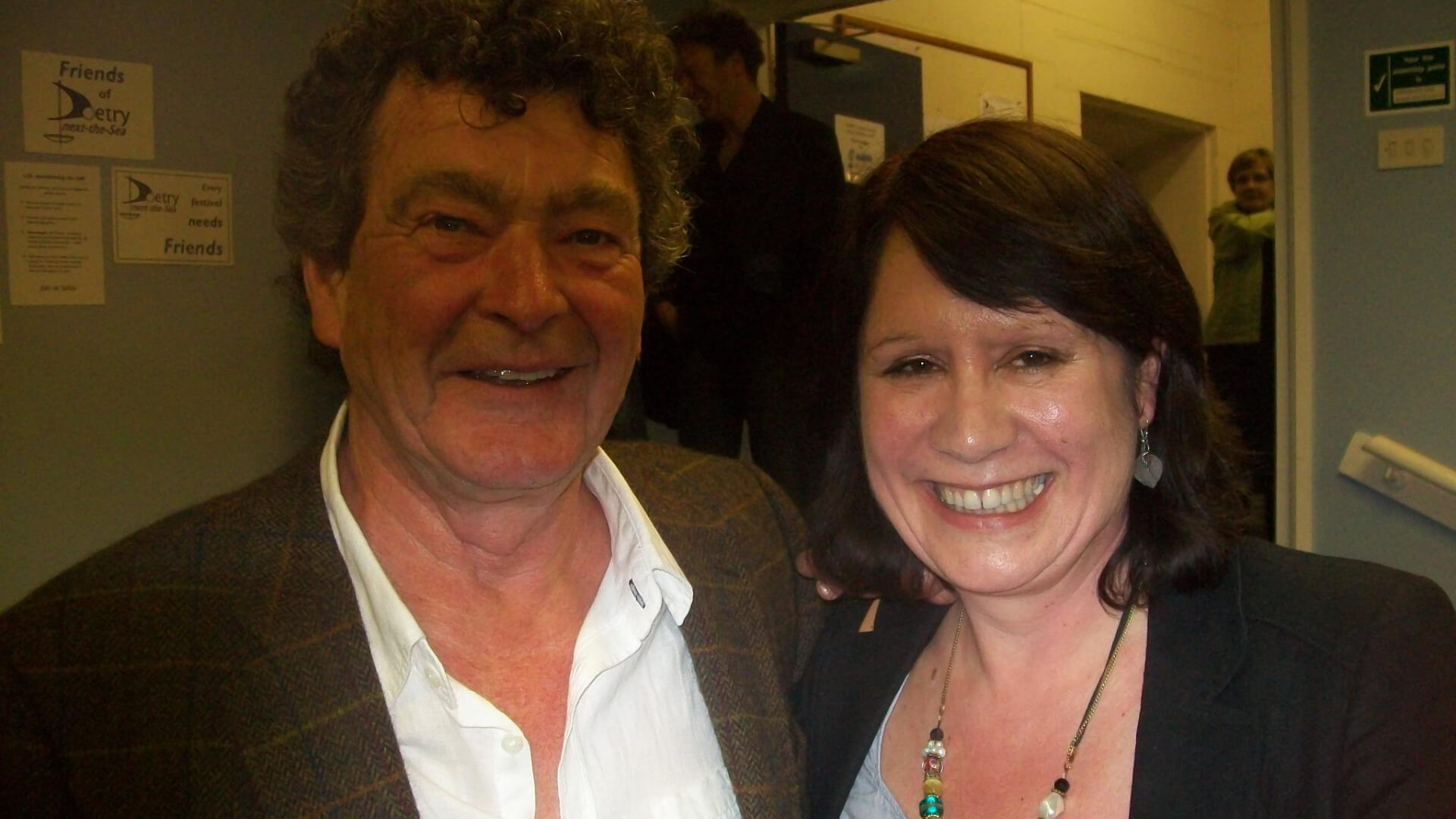 Meeting the wonderful Liverpool poet Brian Patten  at Bradford Lit Fest