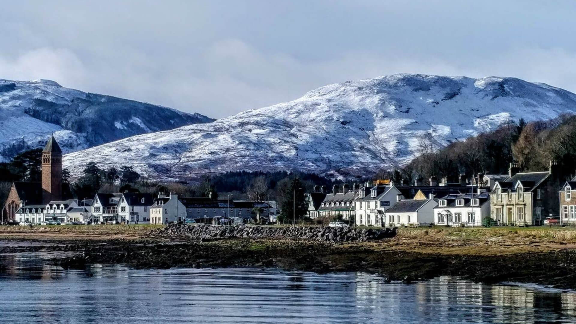 The village of Lamlash, Isle of Arran, where we live and run our B & B now