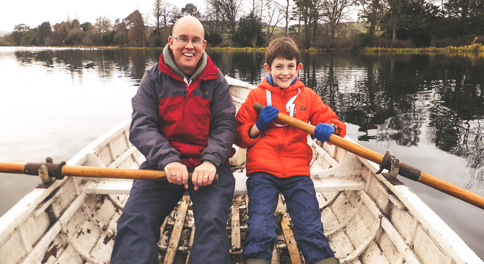 Miles and I rowing in Shrewsbury - December 2017