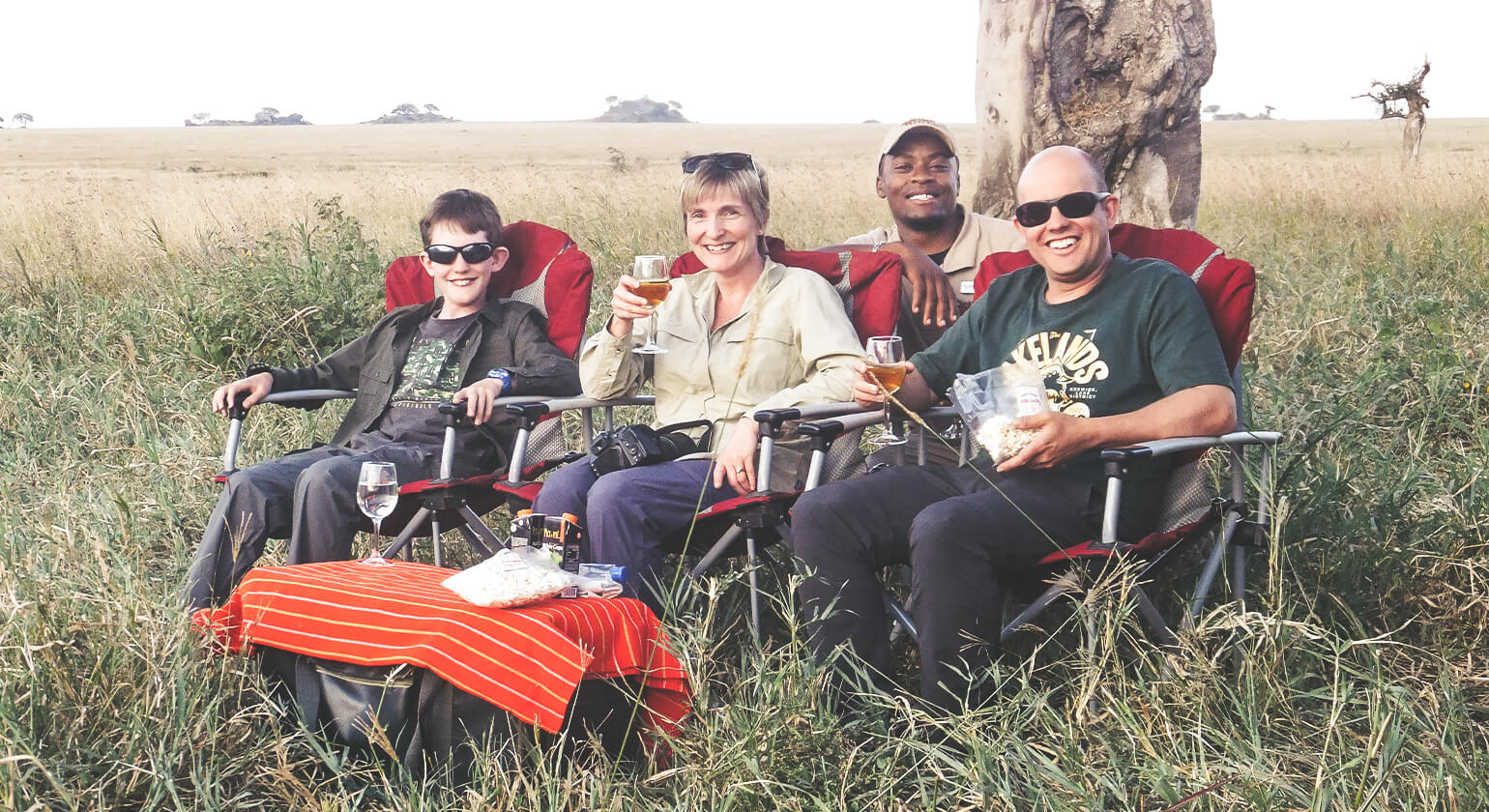All of us in Tanzania on Safari with Laban our guide - 2018