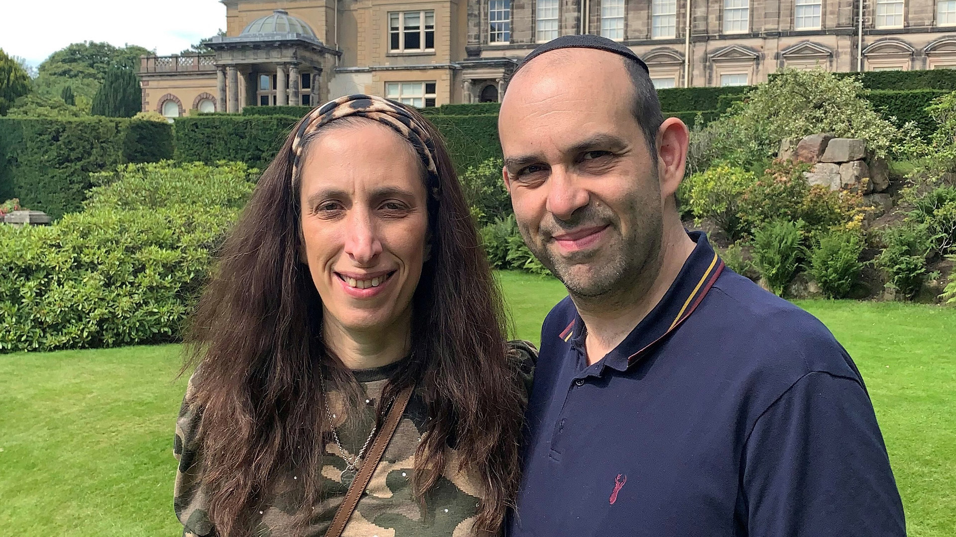 Jeffrey and his wife enjoying a day out at Biddulph Grange.
